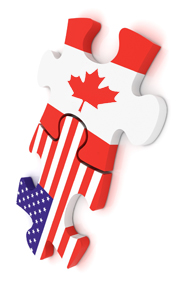 We are located across the US-Canadian Borders