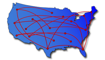 Cross continental network
